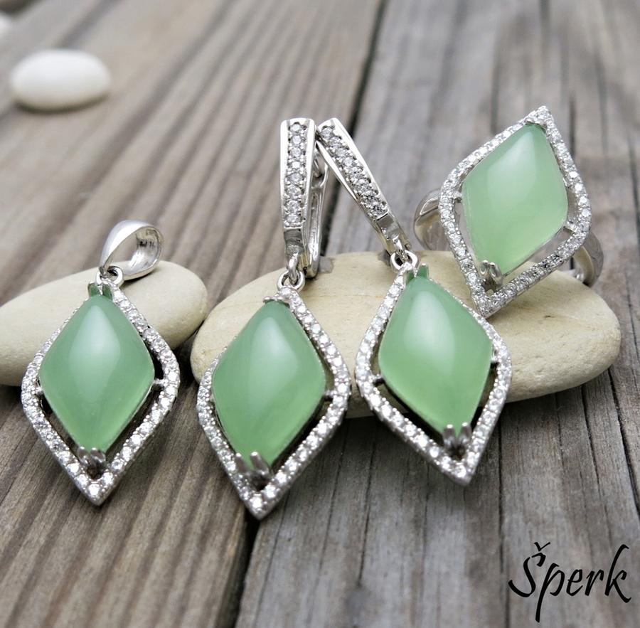 Magická zelená souprava šperků